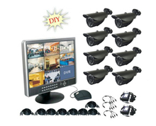 2015 New 8CH DVR with built-in lcd monitor security camera set
