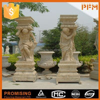 Apartment garden decoration natural stone polished horses granite sculpture