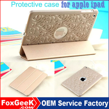 HOT selling protective cover for ipad air and Hollow out design back case for ipad mini 2 3 Hollow out design good for heat di