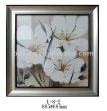 Custom High Quality Beautiful white flower Decorative framed art print On Canvas for sale