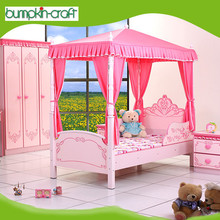 High quality modern furniture wooden single girl princess bed