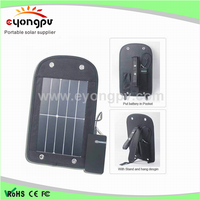 2016 new rechargeable bag pack with solar battery