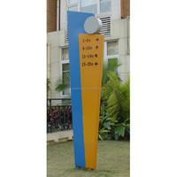 Outdoor Creative Directional Pylon for Club Branding