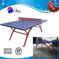 SMC Waterproof Tennis Table/Ping-pong Table Rainbow Metal Leg,ball,net,paddle