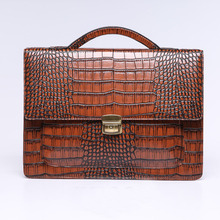 Italy Style Men's Alligator Luxury Briefcase (BDESD5799)