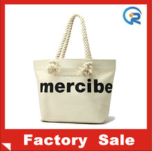 China professional customized canvas tote bag rope handle