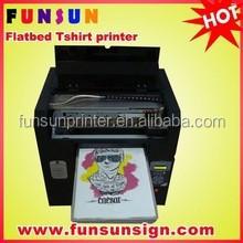 a3 size digital flatbed tshirt printer ,garment printing machine (factory price,best quality)