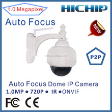 Top 10 CMOS Sensor Network Dome Waterproof security ip camera with audio sd card storage