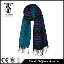 New Hot Lady soft black blue Plaid Cozy two side Scarf Wrap shawl