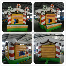 Christmas sweet candy theme inflatable bouncy castle price