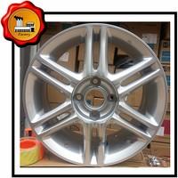 15inch custom steel rims wheel rim 4*114.3 pcd with sliver color 5 spokes