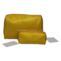 2014 new style high quality fiber cosmetic bag set for men green and blue coated canvas cosmetic bag