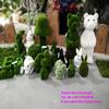 H08062 customize all kinds of artificial grass animal green grass rabbit fake animal