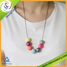 high quality geometric wholesale 20mm wooden beads