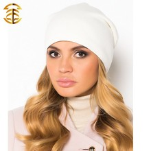 Diseño Popular mujeres hermosa ganchillo tapas de calidad superior rusia Beanie Knit Hats
