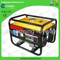 air cooled single cylinder 4 stroke recoil/electric start portable gasoline power generator