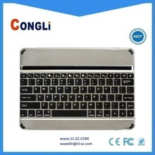 Hot sale Aluminium Bluetooth keyboard for iPad air ,with slot,perfectly fits for iPad air