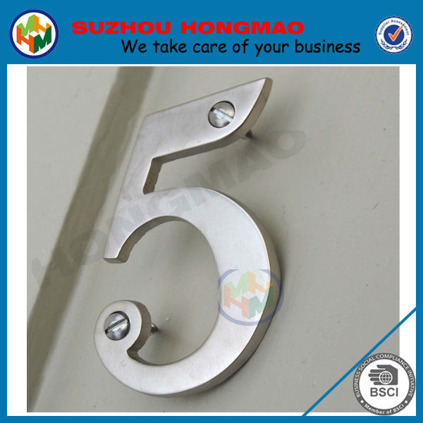 3d new design stainless steel house numbers letters for for Stainless steel letters buy online