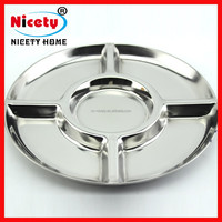 divided stainless steel compartment fast food tray