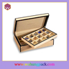 matte painting wooden custom cufflink box WH-0311