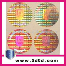 2012 2d/3d Anti-counterfeit adhesive labels/stickers