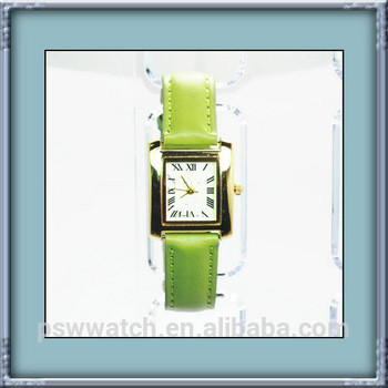 Quartz women watch 2015 leather straps watch 3 ATM waterproof watch from Factory