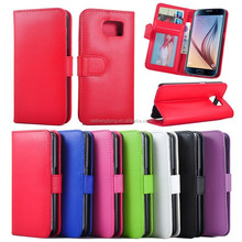 Good Design Mobile Phone Leather Case Cell Phone Case Leather Mobile Phone Case for Samsung S6