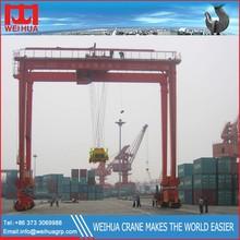 Loading And Unloading 40Ton RTG Container Handling Gantry Crane