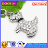 Quality Handmade 3D Crystal Pet Dog Charm For Jewelry Hot Sale # 17165