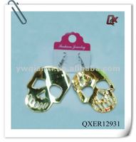 fashion skull earrings for men(QXER12931)