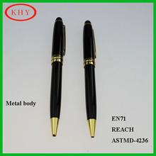 Lifetime guarantee classic design metal body roller ball pen