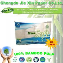100% Virgin Bamboo soft bathroom tissue toilet paper 2ply 16 rolls/pack