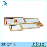 Wooden Montessori Materials,Educational Wooden Toys,Montessori Multiplication Working Charts