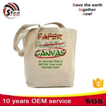 drawstring Recycled foldable cotton canvas shopping bag good for promotional and advertising