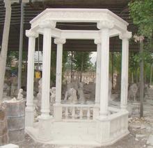 Hexagon Cast Stone Garden Gazebo Pavilion For Garden Use