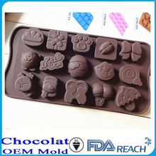 MFG Various shape silicone chocolate molds impression fondant mold