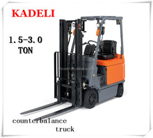 4 wheels counterbalance electric forklift truck installed forklift attachment