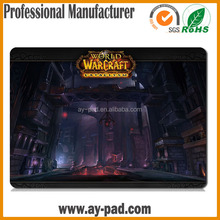 AY world of warcraft private label play mat , heat transfer printing mouse pad
