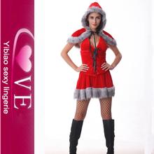 De dos piezas de moda navidad traje de Santa Claus para las muchachas