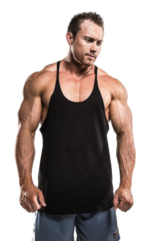 Men blank gym stringer bodybuilding apparel singlet for Singlet shirt for mens