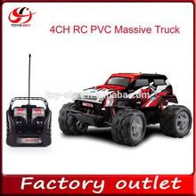 nuevos productos 4ch rc masiva de pvc camiones rc buggy escala del carro