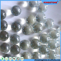 Best quality crystal flat bottom glass balls,decorative glass balls for sale