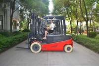 Top rank brand 5.0T electric forklift truck with white green tyre(option)