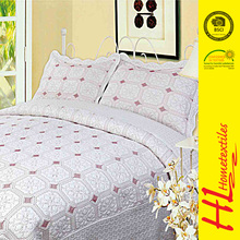 low MOQ customized patchwork bedding set quilts