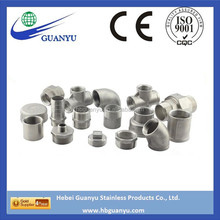 CE certificated stainless steel pipe fitting 90 degree elbow price npt thread