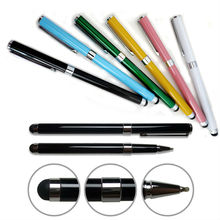 Dual Function 2 in 1 Screen Touch Pen Capacitive Stylus For iPhone with Write Pen for iPad Samsung For htc Stylus Touch Pen