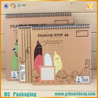 brown paper drawing notebook/recycled kraft cover notebook