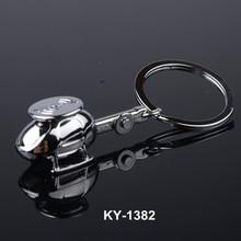 Mini plane model custom logo printed popular fashion metal 3D airplane keychain wholesale for souvenir aircraft