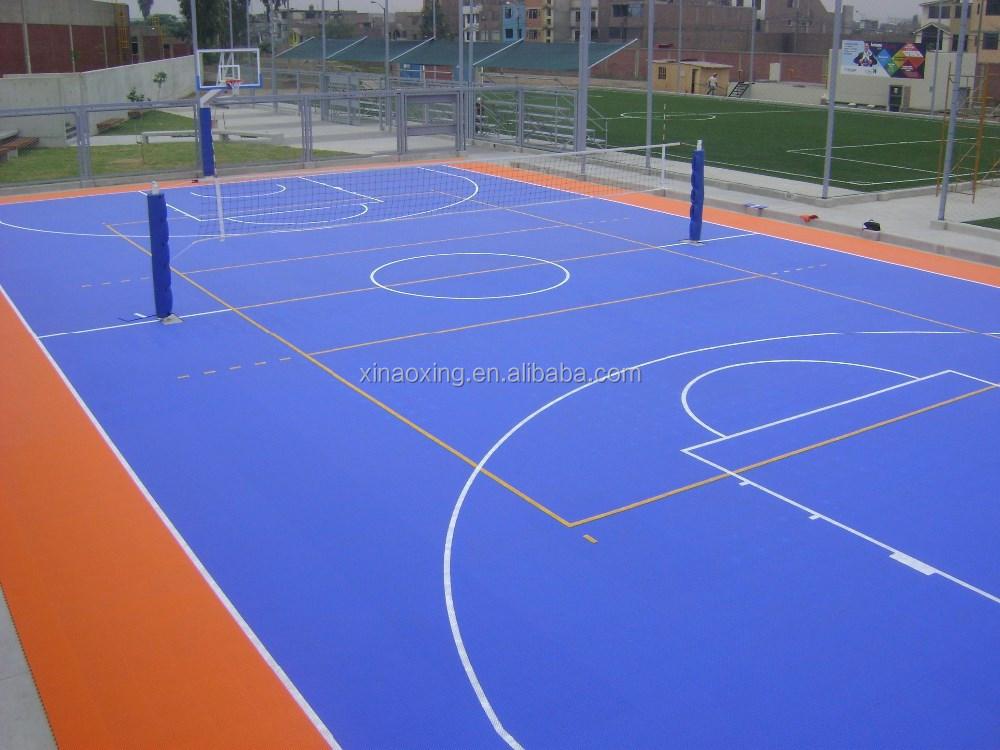 SUGE Outdoor Interlocking Basketball Court Flooring, Modular Basketball Court Flooring