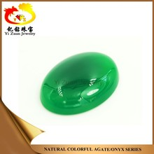AAA High Quality Oval Cabochon Smooth Green Natural Chalcedony Gemstone
